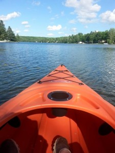 kayaking chicaugon lake iron county mi
